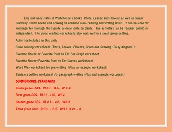 Close Reading/Writing Activities for Science