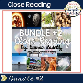 Close Reading Bundle #2 {Standards Based}