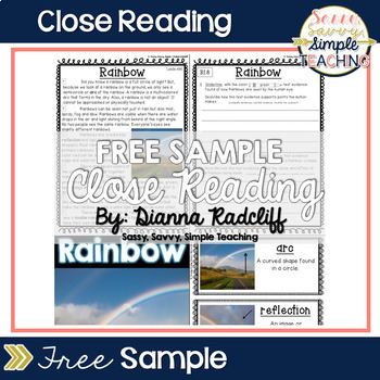 FREE Reading Comprehension Passage with Standards Based Text Dependent Questions
