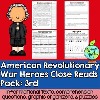 American Revolution, Revolutionary War, Leveled Passages 3rd Grade