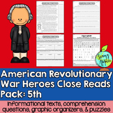American Revolution, Revolutionary War, Leveled Passages 5th Grade