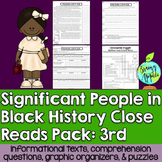 Black History Month Leveled Passages 3rd Grade
