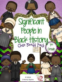 Black History Month Leveled Passages 3rd Grade Sampler