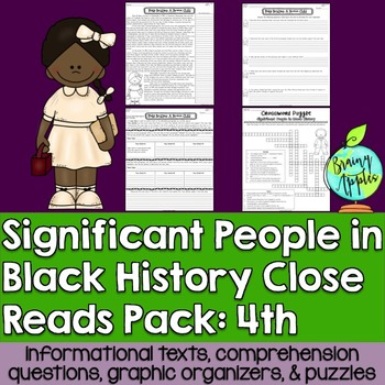 Black History Month Leveled Passages 4th Grade