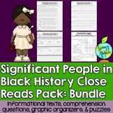 Black History Month Leveled Passages Bundle