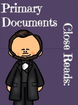 Abraham Lincoln Lesson Primary Documents Close Read