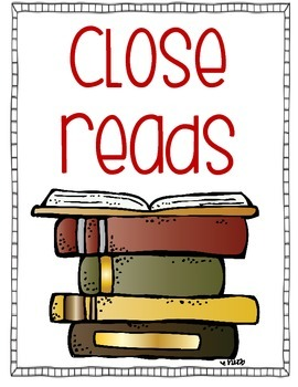 Close Reads and Guided Reading Binder Covers and Spines