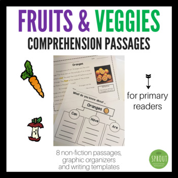 Close Reads: for Beginning Readers - Fruits and Veggies