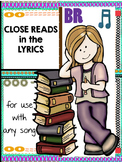 Distance Learning Close Reads in the Lyrics for Any Song