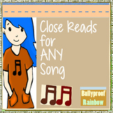 Close Reads with lyrics: pop songs