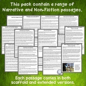 Reading Comprehension Passages and Questions Mega Bundle British Spelling