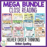 Reading Comprehension Passages and Questions Mega Bundle (