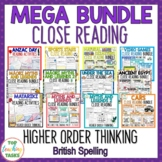 MEGA BUNDLE Reading Comprehension Activities with Higher O