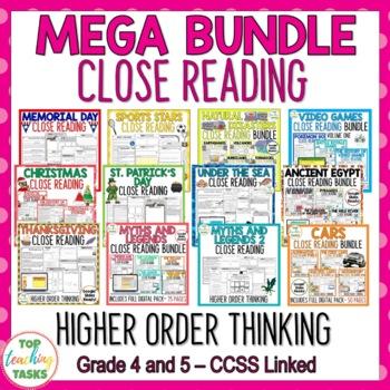Close Up MEGA BUNDLE - Close Reading/Higher Order Thinking US