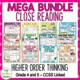 Close Reading Comprehension Passages and Questions Mega Bundle