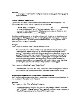 Close Writing: Good Moves to Make Handling Quotations