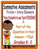 Story Elements Assessments K - 2