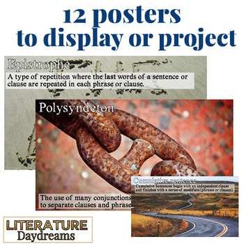 Close analysis of syntax and sentence structure posters and workshseets