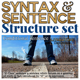 Close analysis of syntax and sentence structure posters an