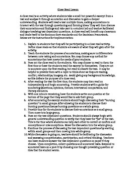 """Close read """"Jacob Have I Loved"""" Excerpt w/ Plan and Text-Dependent Questions"""