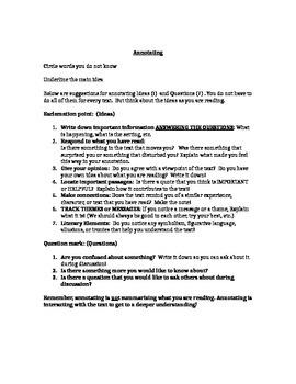 Close read Sonnet 29 Poem w/ lesson, annotation guide & Text dependent questions