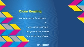 Close reading introduction and explanation