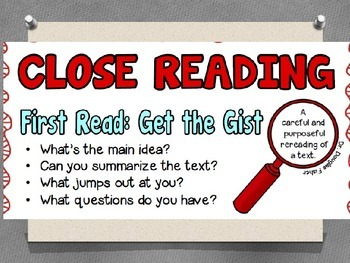 Close reading mini lesson fiction, Skill: summarizing