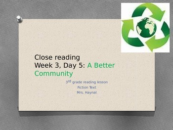 Close reading mini lesson fiction, Skill: summarizing