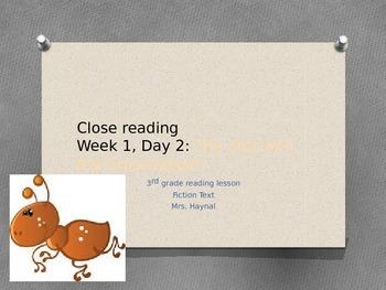 Close reading mini lesson number 2, 3rd grade