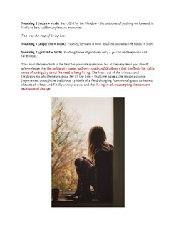 Close reading notes – analysis of Rosemary Dobson, 'Young Girl at a Window'