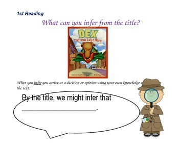 Close reading question slides for Dex-The Heart of a Hero