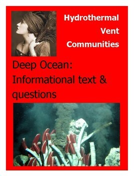 Close reading & questions Chemosynthesis & Hydrothermal vents