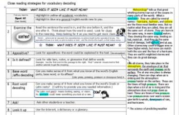 Close reading strategies for vocabulary decoding through c