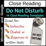 Close reading templates to respond to texts through annotation