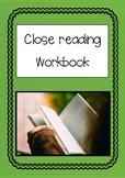 Close reading workbook