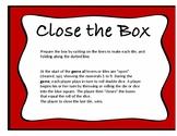 Close the Box math game, fine motor skills