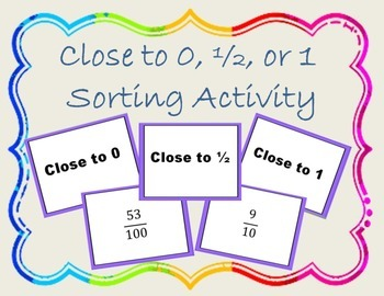 Fraction Sort Activity { Math Center }
