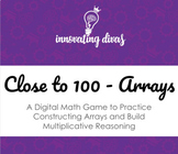 Close to 100 Array Math Game (Multiplication)