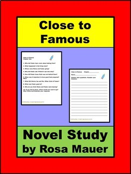 Close to Famous by Joan Bauer Book Unit