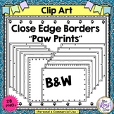 Close Edge Borders Paw Prints  Set of 28 borders in Landsc