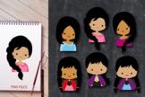 Close up girls - Dark skin, African American characters