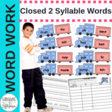 Phonics Closed 2 Syllable Words for Literacy Center Idea