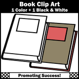 Closed Book Clip Art, Book with Blank Title Space, Commercial Use SPS
