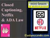 Closed Captioning, Netflix & ADA Law