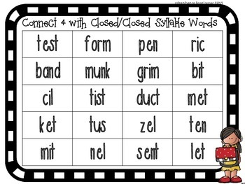 Closed Closed Syllable Words
