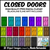 Closed Doors Clip Art for Personal and Commercial Use
