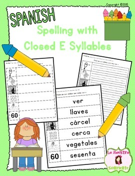 Spelling: Writing Closed E Syllables (Spanish)