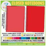 Closed Notebooks Clip Art (Blank)