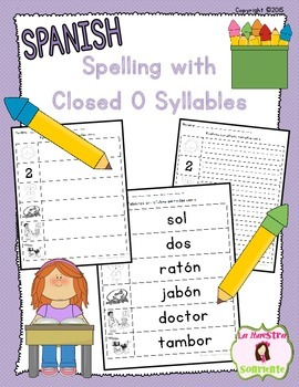 Spelling: Writing Closed O Syllables (Spanish)