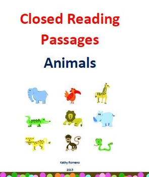 Closed Reading Lessons on Animals.